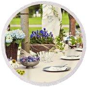 Garden Wedding Table Setting Round Beach Towel