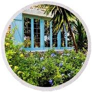 Garden Window Db Round Beach Towel