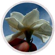 Gardenia For You My Dear Round Beach Towel