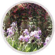 Gardens At Caesars Round Beach Towel
