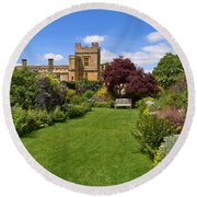 Gardens Of Sudeley Castle In The Cotswolds Round Beach Towel