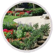 Gardenscape Round Beach Towel