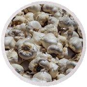 Garlic Harvest Round Beach Towel