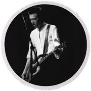 Gary Pihl On Guitar Round Beach Towel