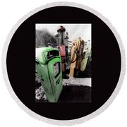 Gas Pump Grave 23 Round Beach Towel