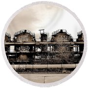 Gasworks Seattle Round Beach Towel by Benjamin Yeager