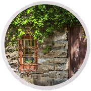 Gate And Window Round Beach Towel