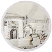 Gate Of The Vine , From Sketches Round Beach Towel