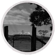 Gated Light Round Beach Towel