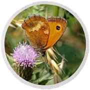 Gatekeeper Butterfly Round Beach Towel