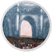Gateway Of India Mumbai 2 Round Beach Towel