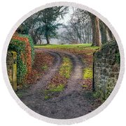 Gateway To Autumn Round Beach Towel