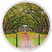 Gateway To The Old South Paint Round Beach Towel by Steve Harrington