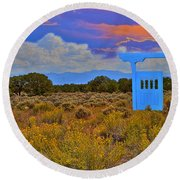 Gateway To The West Round Beach Towel