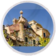 Gaudi Apartment Round Beach Towel