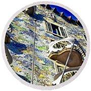 Gaudi - Casa Batllo Exterior Round Beach Towel