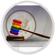 Gay Marriage Round Beach Towel