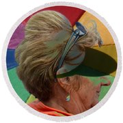 Gay Old Times  Round Beach Towel