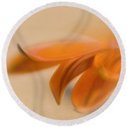 Gazania Abstract II Round Beach Towel