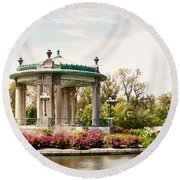 Gazebo At Forest Park St Louis Mo Round Beach Towel