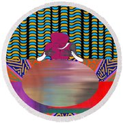 Gazing Into The Crystal Ball Round Beach Towel