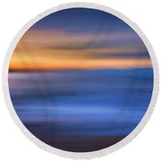 Gazing The Horizon Round Beach Towel by Lourry Legarde