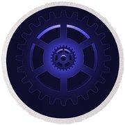 Gear - Cog Wheel Round Beach Towel by Michal Boubin