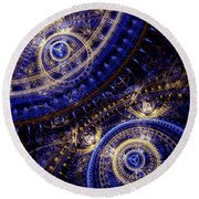 Gears Of Time Round Beach Towel