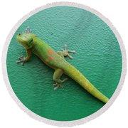 Gecko Crossing Round Beach Towel