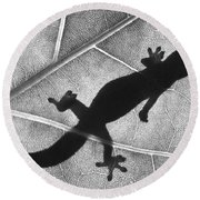 Gecko Shadow Round Beach Towel