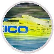 Geico Off Shore Racing Round Beach Towel