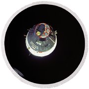 Gemini Vii Orbit 1965 - Nasa Round Beach Towel