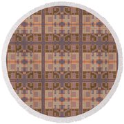 Gemma Abstract 1 Round Beach Towel