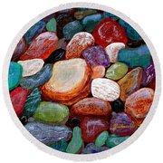 Gemstones Round Beach Towel