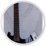 Gene Simmons Hatchet Bass Guitar Round Beach Towel