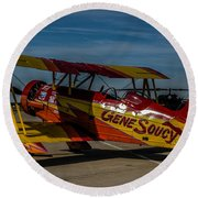 Gene Soucy Round Beach Towel