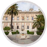 General Archive Of The Indies In Seville Round Beach Towel