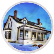 General Custer House Round Beach Towel