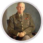 General George C Marshall Round Beach Towel