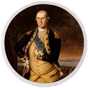 General George Washington  Round Beach Towel