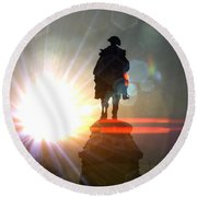 General In Sunrise Flares Round Beach Towel