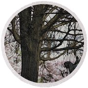 General Meade In The Cherry Blossoms Round Beach Towel