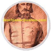 General Pickett Confederate  Round Beach Towel
