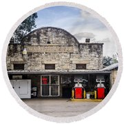General Store In Independence Texas Round Beach Towel