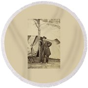 General Ulysses S. Grant Round Beach Towel
