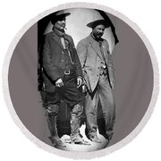 Generals Fierro And Villa Unknown Location 1913 -2013 Round Beach Towel