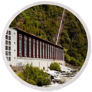 Generator House Of Hydro-electric Power Plant Round Beach Towel