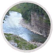 Genesee River In Grand Canyon Of East Round Beach Towel