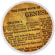 Genesis Round Beach Towel