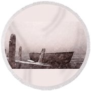 Gentle Current Round Beach Towel